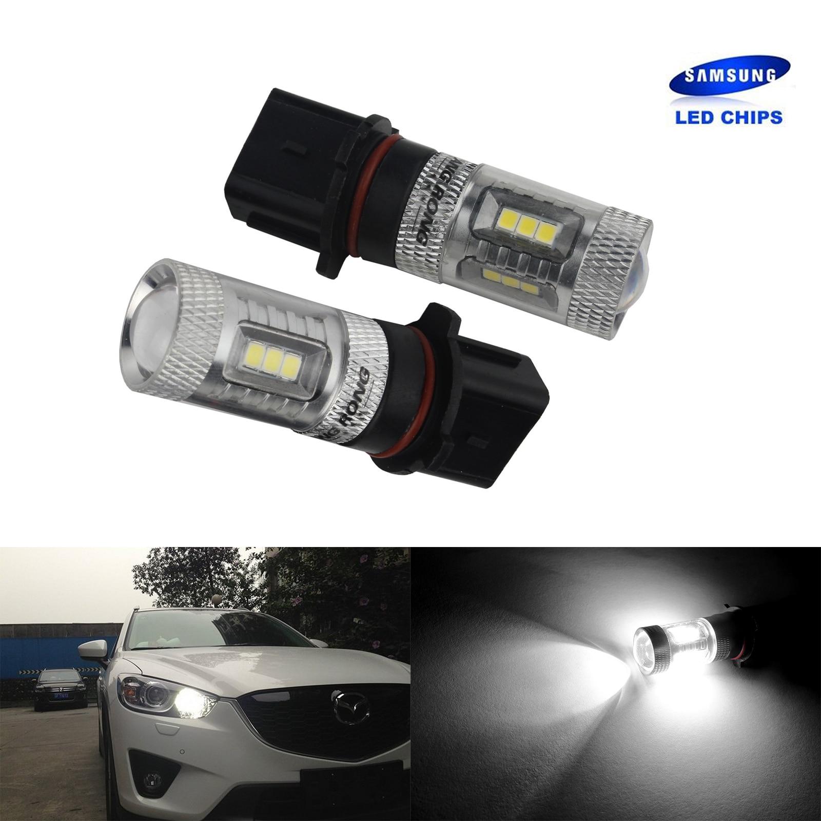 2x P13W SH23W 12277 15 SMD SAMSUNG Chips LED Fog Daytime Running Light DRL White