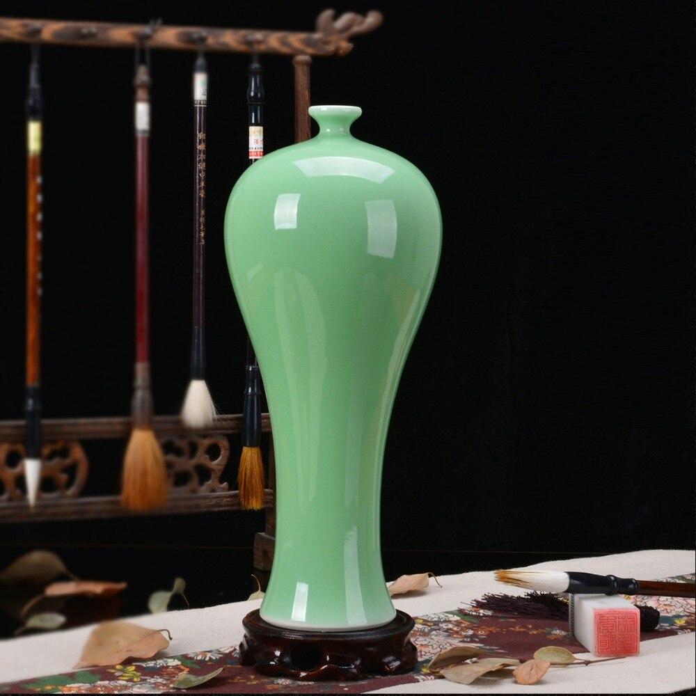 Ev ve Bahçe'ten Vazolar'de Jingdezhen seramik antika vazo saf el yapımı güzellik vazo antika fasulye yeşil sır oturma odası süslemeleri el sanatları porselen'da  Grup 1