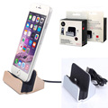 New Desktop Data Transmission Charging Dock Holder USB Stand Stable Mobile Phone Holders & Stands for iphone 5 6 7 Plus