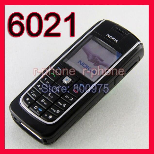 оригинальный телефон Nokia 6021 сотовый телефон мобильный разблокирована  восстановленное тримарана GSM черный & подарков блютуз