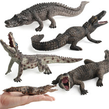 Crocodile Simulation Animal Model Action & Toy Figures Collection Gift for Kids High Quality цена