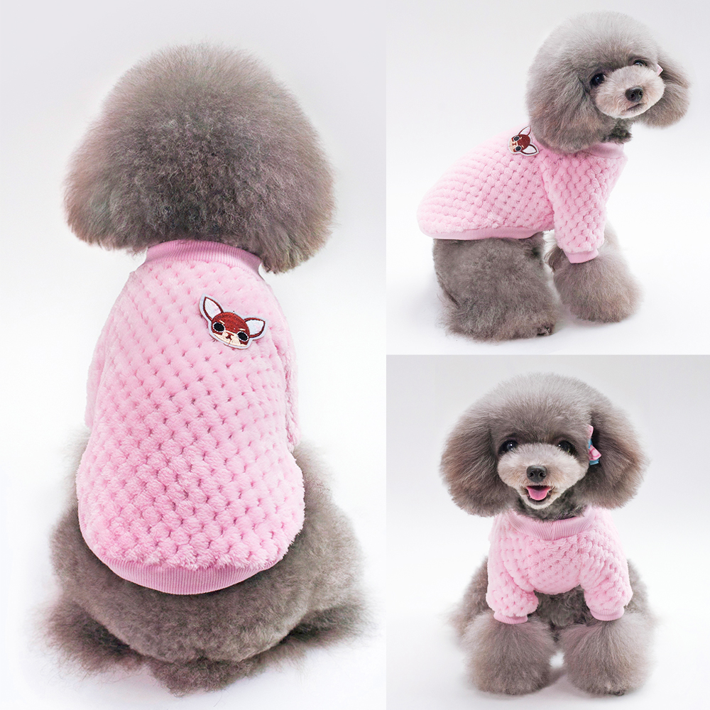 Warm Dog Jacket Made with Soft Fleece Material for Small and Medium Dogs 2