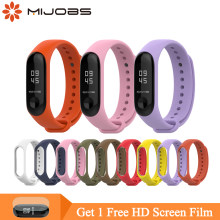 Mi jobs mi bande 3 sangle pour Xiao mi mi bande 4 3 Bracelet Silicone Bracelet mi bande 3 sangle Bracelet intelligent pour mi Band3(China)