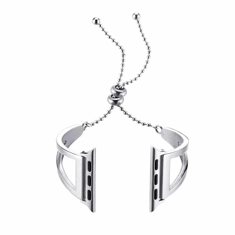 Braccialetto delle donne Cinghia per Apple Watch Band 40/44/38/42 millimetri In Acciaio Inox WristBand per iWatch serie 5 4 3 2 Cinghia Dei Monili del Metallo