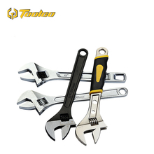 Toolgo Multi-function Universal Wrench Two-color Rubber Sleeve Handle Nickel-plated 6-24 Inch Adjustable