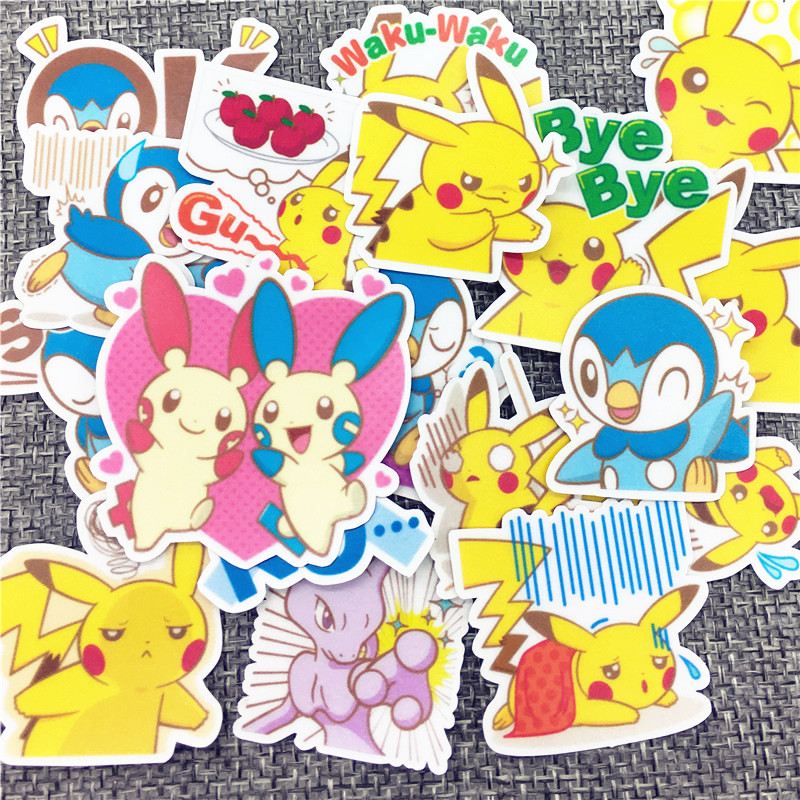Image 2 - 40 Pcs/Lot Mini magical animals Cute Self made stickers scrapbooking For Cartoon Sticker For Laptop Fridge Skateboard-in Stickers from Home & Garden