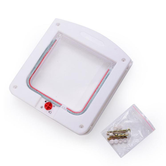 4 Way Locking Direction Controling Pet door Cat Kitty Small Dog Doggy Puppy Flap Safe Gate Door Tunnel Lot Pet Supplies