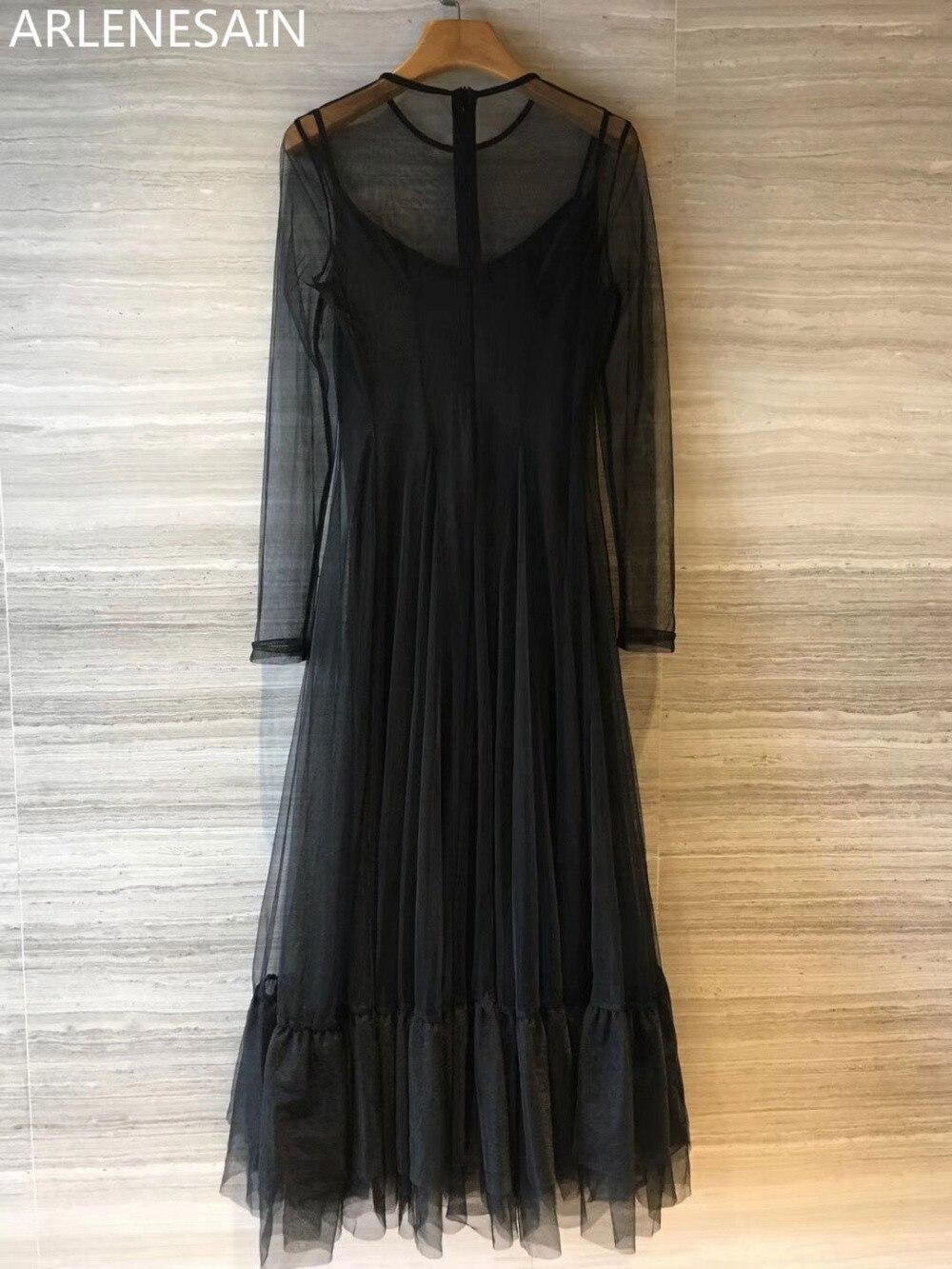 Und Sommer Taille Frühjahr Arlenesain Kleidung Kleid Nach Neue Frauen Mesh 2018 uJ3lK1cTF