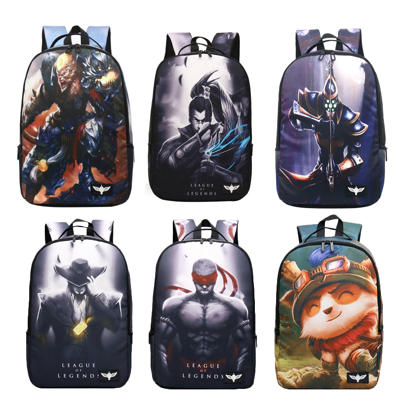 LOL Theme Backpack Universal School Bag for Male and Female Students Around the GameLOL Theme Backpack Universal School Bag for Male and Female Students Around the Game