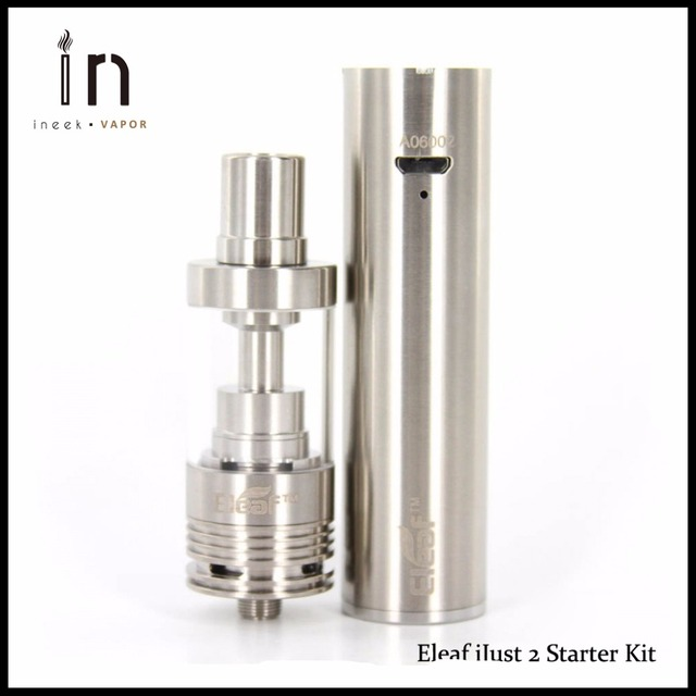 100% original eleaf ijust kit 2 de arranque con 0.3ohm 2600 mah Capacidad de la batería 30 W-80 W Sólo 2 Vaporizador Kit Ideal e-cigarrillo