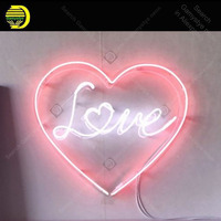 Neon Sign for Love With Heart decorate Windower Gameroom Display Beer Bar glass Tubes Restaurant Neon lights Advertise Lamps
