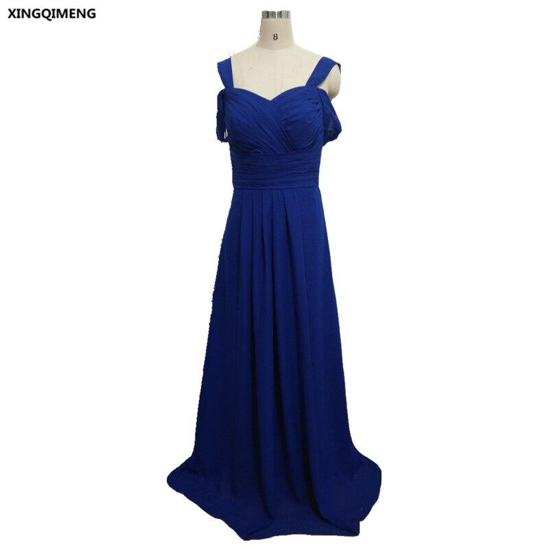 Royal Blue Sexy Beach Bridesmaid Dresses Long Simple Formal Dresses