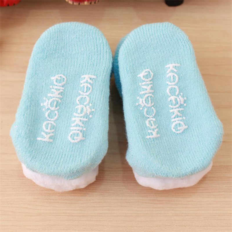 Crianças meias de verão primavera outono dos desenhos animados dos miúdos recém-nascidos do bebê meninas meninos anti-deslizamento quente curto meias sapatos botas de algodão