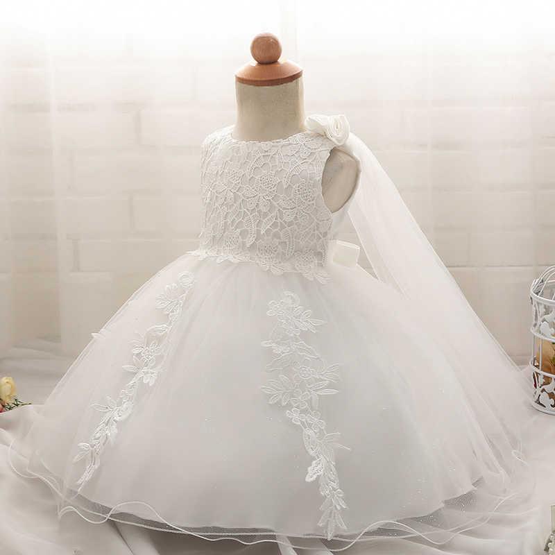 8ab915bee ... Los niños vestido blanco pétalos diseños vestidos para niñas de encaje  bautizo vestido bebé Niñas Ropa ...