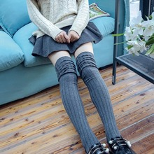 New Hot Autumn And Winter Cotton Stockings Women Fashion Thigh High Over Knee Socks Hollow Stripped Sexy Stockings Bas Femme 85Z
