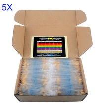 5 пакетов/серия DIYmall 1/4 Вт Металлическая Пленка Переменный резистор Пакет Комплект 1% Точность 133 Значения 1 К 10 К 220ohm 100ohm