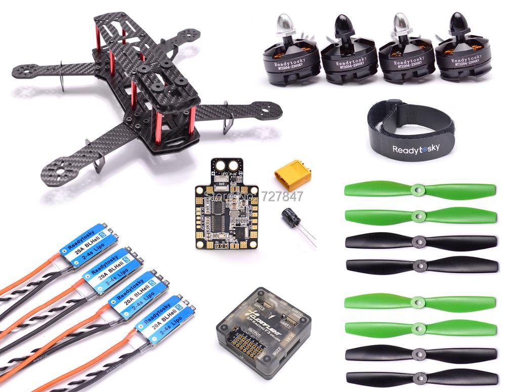 Carbon Fiber ZMR250 C250 Quadcopter 2204 2300kv Motor Mini BLHeli 20A Esc F3 Flight Controller 5045 Prop for QAV250 carbon fiber diy mini drone 220mm quadcopter frame for qav r 220 f3 flight controller lhi dx2205 2300kv motor