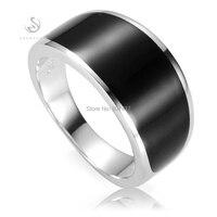 Eulonvan Zwart emaille 925 sterling Zilveren Sieraden mannelijke Ringen voor mannen gothic Nobele Royale Rave reviews S-3776 maat 7 8 9 10 11