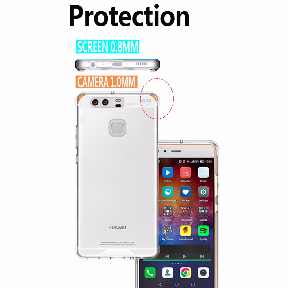 för P9-fodral Klar skyddsfodral för Huawei Mate 9 Väska - Reservdelar och tillbehör för mobiltelefoner - Foto 3