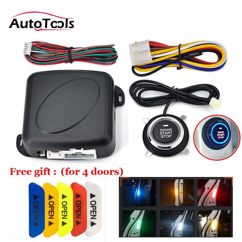 Car One START STOP Engine System Lock Ignition Push Button Keyless Entry Start Stop Button 12v Car Accessories Autostart