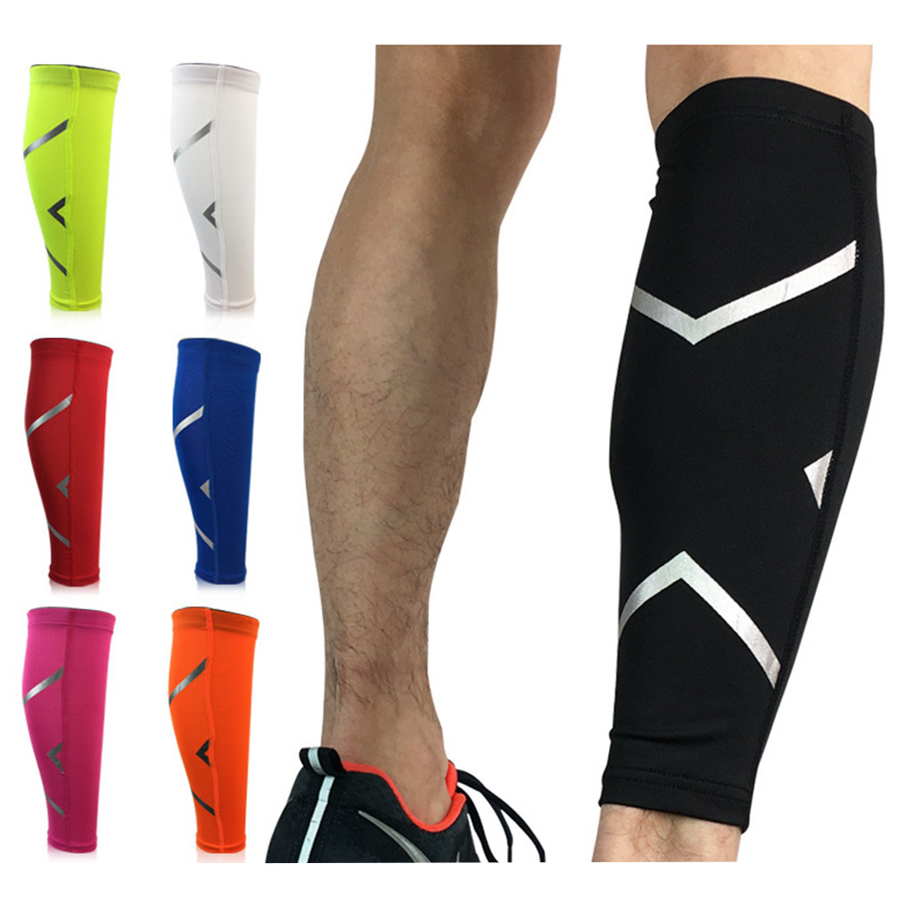 Splint Support Compression-Sleeve Leg-Performance Shin Stretch Calf Pain-Relief