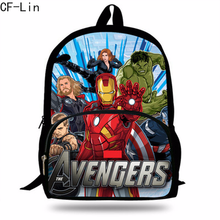 2019 16-inch Than Os Avengers Backpack for School Boys Bookbag Infinity War Children and Teengers Travel Bag Girls Gift Mochila(China)