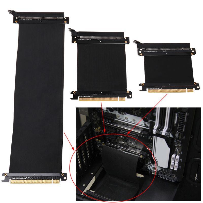 5/10/30/40/50cm Alta Velocidade PC Placas Gráficas PCI Express 3.0 16x Flexível cabo de Extensão Riser Card Adaptador de Porta para GPU C26