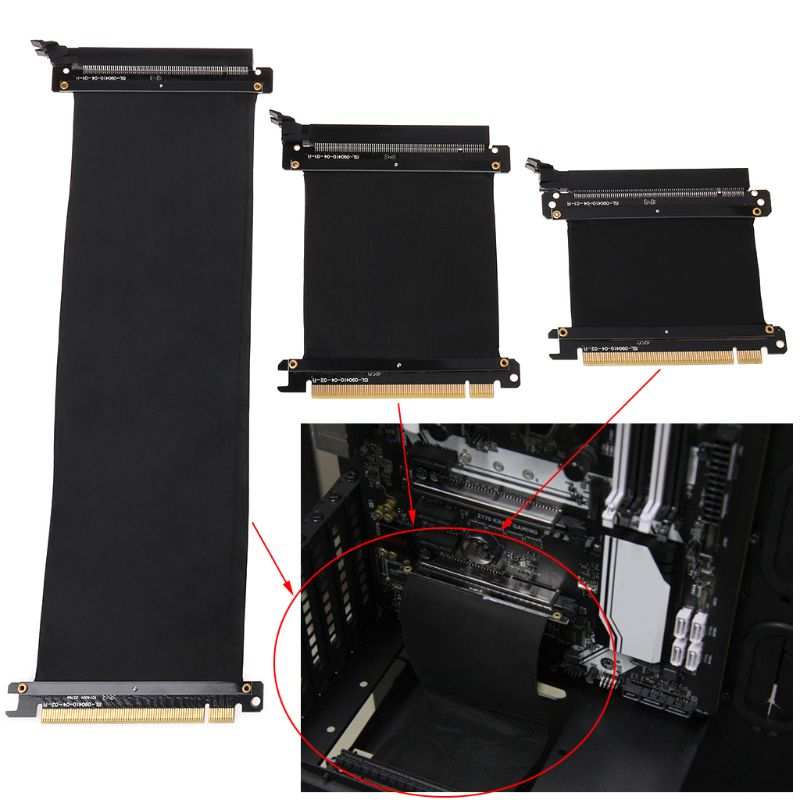 5 10 30 40 50cm High Speed PC Graphics Cards PCI Express 3 0 16x Flexible Cable Riser Card Extension Port Adapter for GPU C26