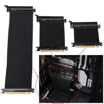 5/10/30/40/50cm High Speed PC Graphics Cards PCI Express 3.0 16x Flexible Cable Riser Card Extension Port Adapter for GPU C26 недорого