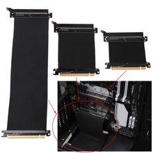 Adaptador de puerto de extensión de tarjeta vertical de Cable Flexible, gráficos de PC de tarjetas de PCI Express 3,0 16x de alta velocidad de 5/10/30/40/50cm para GPU C26
