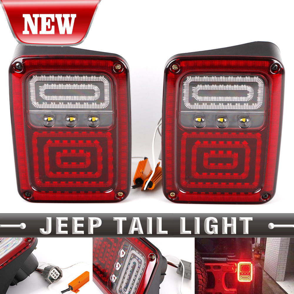 Hot Plug and Play LED Taillight Assembly Reverse Brake Tail Lights With USA models for 07-15 Jeep Wrangler Taillight led tail lights for kia sportage 2009 2013 led tail lamp plug and play installtion