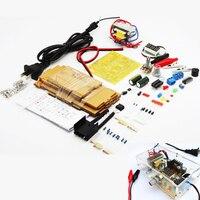 Versión actualizada de BRICOLAJE LM317 Voltaje Ajustable Power Supply Board Kit con el caso de Aprendizaje aprender kit envío gratis