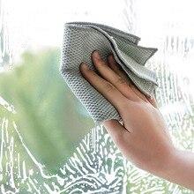 1 шт. большая салфетка из микрофибры для чистки кухонных полотенец, впитывающая моющая ткань для окон и пола автомобиля, многоцелевая тряпка для уборки дома, большая тряпка