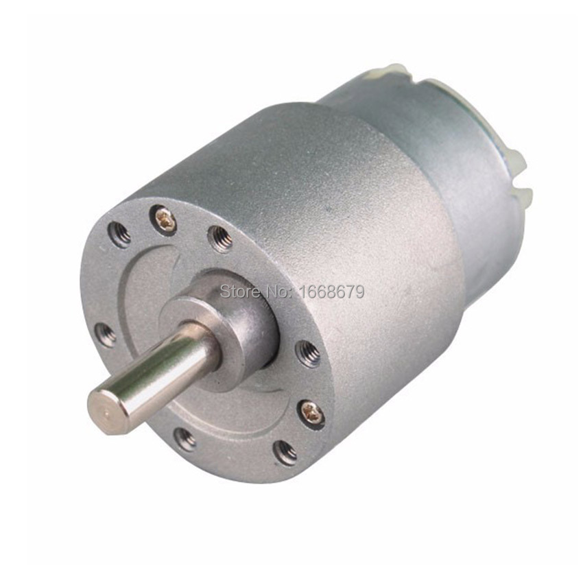 Ebowan mini electric metal 12v dc gear motor 37mm 10rpm for Most powerful electric motor