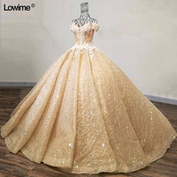 Actual Image Ball Gown Sweetheart vestido de festa longo Court Train Pearls Lace Evening Dresses 2018 Free Shipping