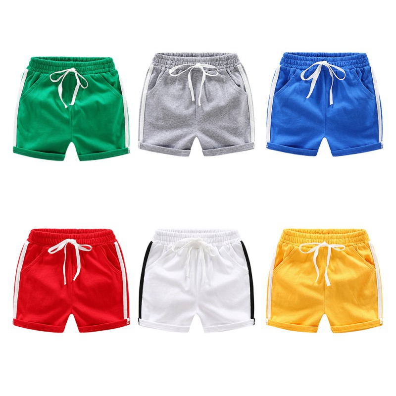 Baby Boy   Shorts   Summer Children Trousers Stripe   Short   Pants Kids Casual Motion Kid Cotton Knee Length   Shorts   Children's Clothing