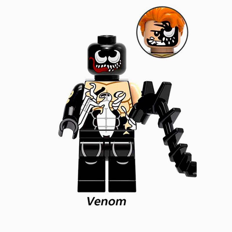 Venta única grande Marvel Superhéroes Anti Venom película Figura Set bloques de construcción regalo de ladrillo niños juguetes compatibles LegoINGly YF30