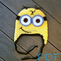 free shipping, baby Despicable me hat , baby minions hat  , baby Pegman beanie caps , new handmade crochet baby/girls/boys hat