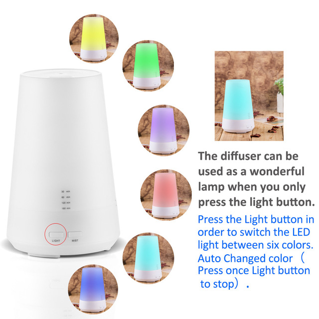 brand new 37afa 6dac4 LED 7 Color Change Ultrasonic Essential Oil Aroma Diffuser Dry Protect Air  Humidifier Mist Maker