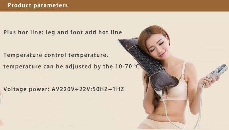 220 cuello en v masaje almohada cuello jade MS tomalina calentamiento en forma de u herramientas de apoyo para el cuello - 2