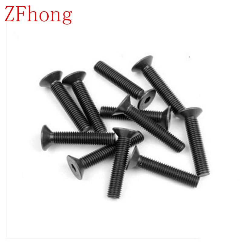 100pcs/lot DIN7991 M2 M2.5 M3 Grade10.9 Hex Hexagon Socket Flat Countersunk Head machine screw 20pcs m3 6 m3 x 6mm aluminum anodized hex socket button head screw