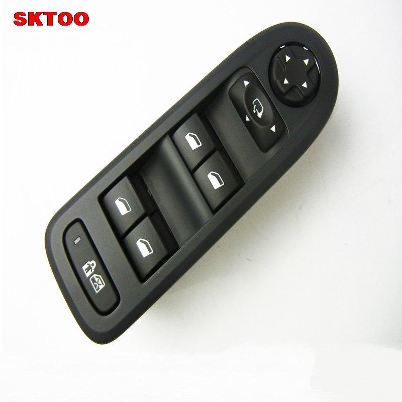 SKTOO interrupteur de lève-vitre Électrique lève-vitre commutateur interrupteur de lève-vitre Pour Citroen c5 Peugeot 508 noir (Produit Original)