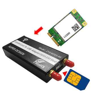 Mini PCI-E PCI-Express to USB Adapter With SIM Slot Card for WWAN/LTE Module