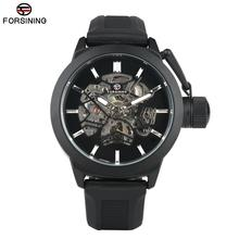 Business Rubber Band Mechanical Watch for Men Military Automatic Skeleton Watches for Teenagers Fashion Analog Watch for Man цена