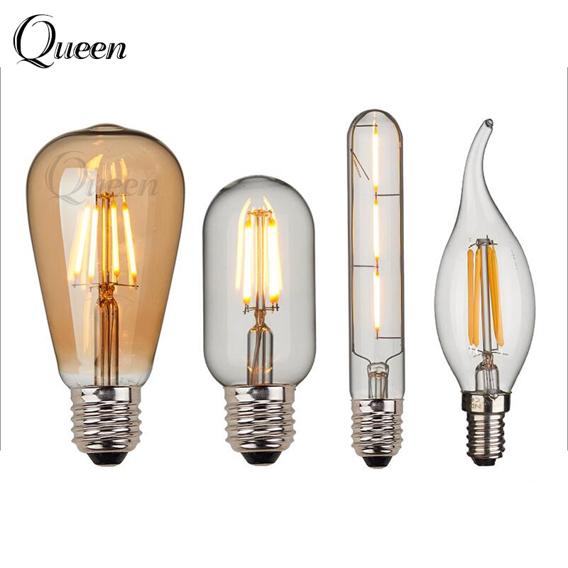 retro led edison bulb e14 e27 ampoule vintage led filament light 2w 4w 6w lampada 220v led. Black Bedroom Furniture Sets. Home Design Ideas