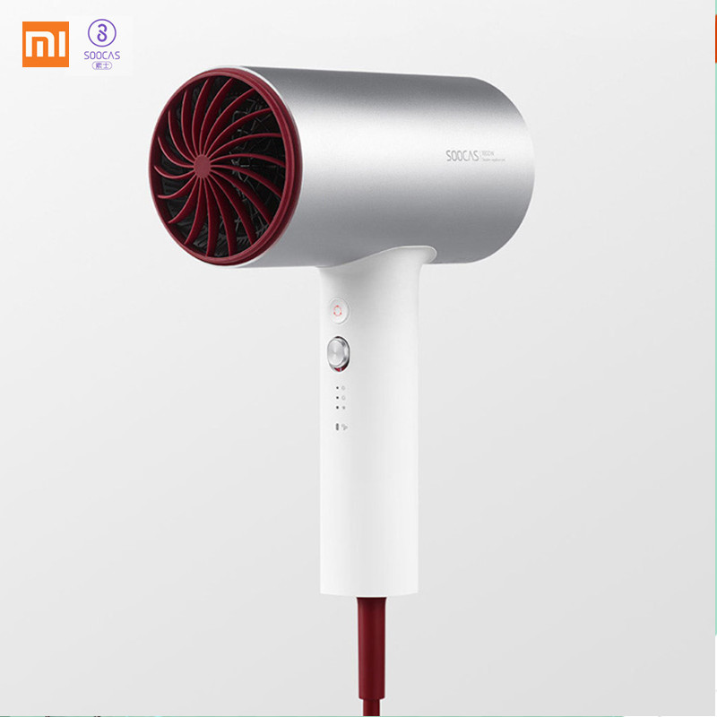 Xiaomi Soocare Soocas H3 Anion Hair Dryer Aluminum Alloy Body Quick-drying Hair Tools 1800W for Xiaomi Smart Home Kits Mi Dryer hair dryer