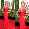 Golden globe heidi klum red one ombro que bling bling do top corpete fenda chiffon vestidos de celebridade