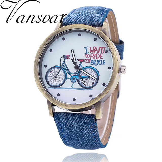 Dropshipping Vintage Women Bike Watch Fashion Casual Ladies Wrist Quartz Watch R
