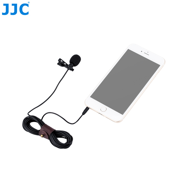 JJC TRRS Omnidirectional Lavalier Microphone for iPhone iPad Smart Phones or Tablets