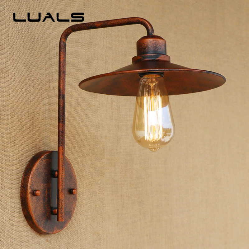 American Style Wall Lights Creative Iron Simple Popular Wall Lamp Cafe Bar Restaurant Edison Wall Light Deco Art Lighting personality creative rope restaurant wall light simple pastoral iron retro wall lamp double section turner lighting